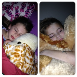 They grow up so fast...  but I still think they are precious when they are sleeping :)